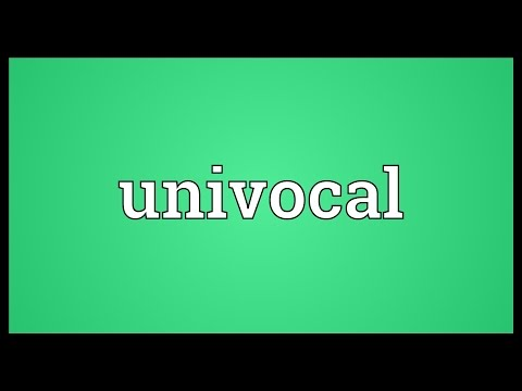 Header of univocal