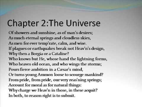 An essay on man by alexander pope chapter 1 2 youtube