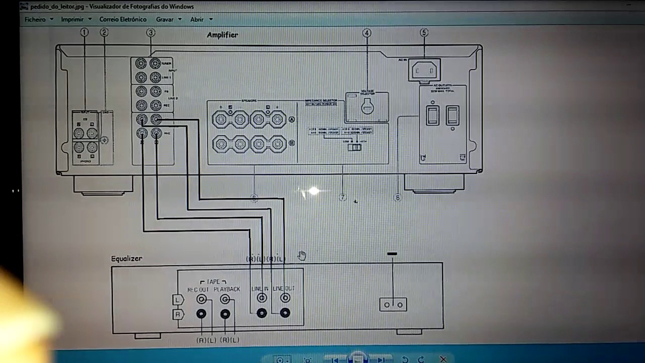 wiring diagram for stereo amplifier equalizer and    amplifier    connections rear panel youtube  equalizer and    amplifier    connections rear panel youtube