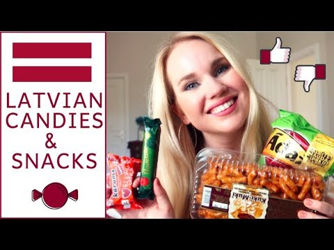 American Girl Tries Latvian Candy & Snacks in Riga, Latvia!