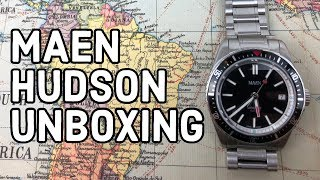 Maen Hudson Dive Watch Arrived! Full Unboxing