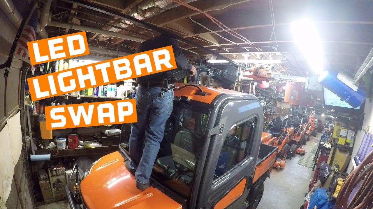 Kubota RTV X1100C Led Light Bar Swap 1 of 5  YouTube