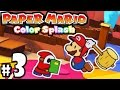 Paper Mario Color Splash - Wii U Gameplay Walkthrough PART 3 - Cherry Lake: Justice Toad & Fan Thing