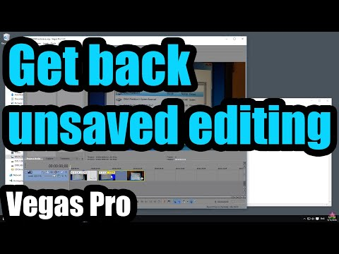 How to get back your unsaved Sony Vegas editing (.veg file)