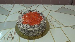 Собираем и украшаем торт с вишнёвым конфитюром