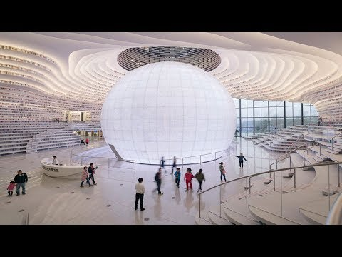 China Opens World's Coolest Library With 1 2 Million Books, And Its Interior Will Take Your Breath A