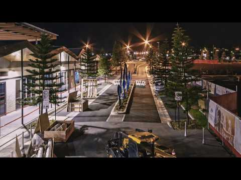 The Waterfront, Shell Cove - Town Centre Public Art Sculpture Time Lapse Install