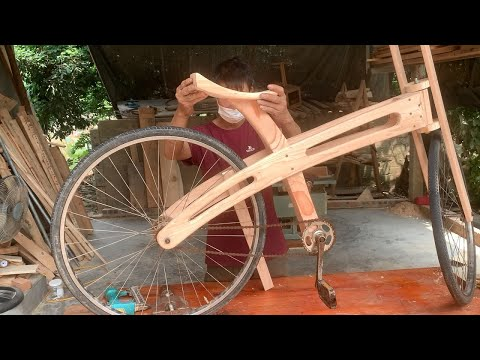 Most Creative Woodworking Ideas // How To Make Beautiful Wooden Bicycles From Recycled Materials thumbnail