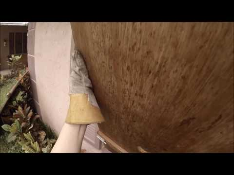 Hurricane Matthew DIY Storm Shutter SET UP 10062016