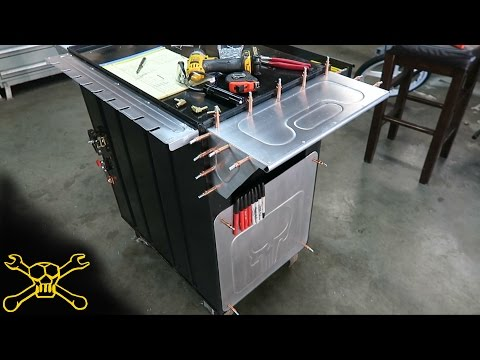 Custom Metal Fabrication Tool Cart Build