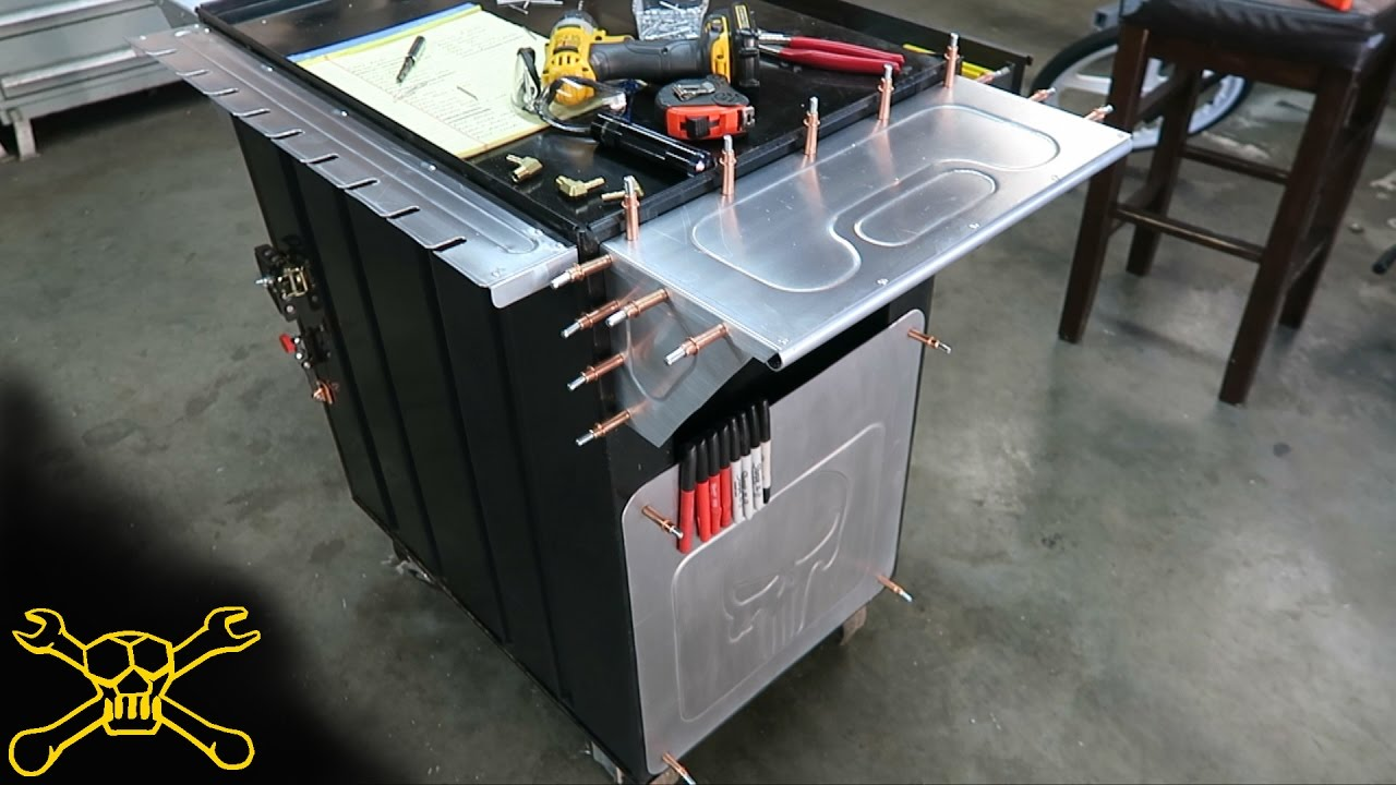 Custom Metal Fabrication Tool Cart Build Youtube