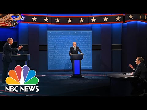 'Mr. President Let Him Answer' Trump Talks Over Biden As He Tries To Defend Son Hunter | NBC News