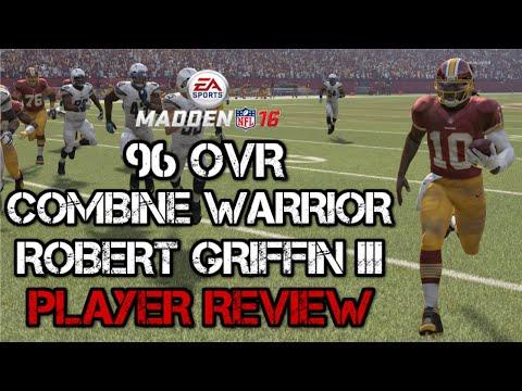 96 OVR Combine Warrior Robert Griffin III | Player Review | Madden 16 Ultimate Team Gameplay