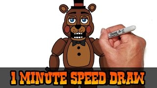 Toy Freddy (FNAF 2) Speed Draw Video Preview