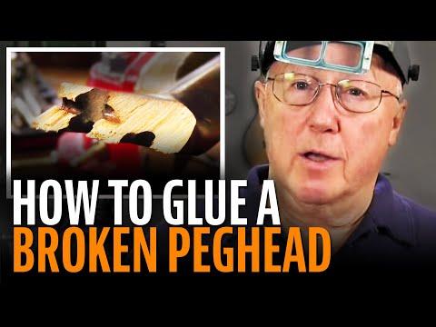 Gluing A Broken Guitar Peghead