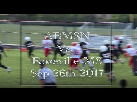 Football Highlights Anchor Bay Middle School North Football 2017 Game 1