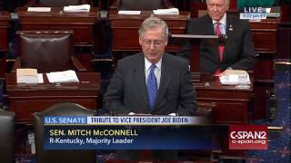 Majority Leader McConnell Pays Tribute to Vice President Biden