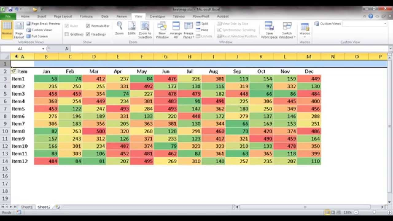 Create a Heat Map Table - YouTube