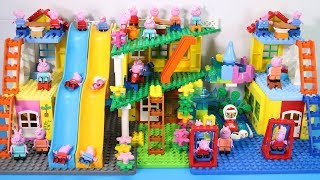 Peppa Pig Lego House Creations With Water Slide Toys For Kids #5