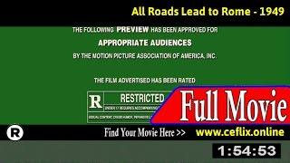 Tous les chemins mènent à Rome (1949) Full Movie Online