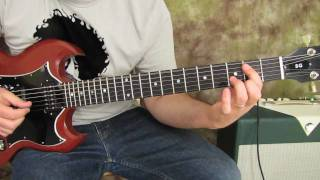 Guns n Roses - Mr. Brownstone - Blues Rock Guitar Lesson - Slash - How to