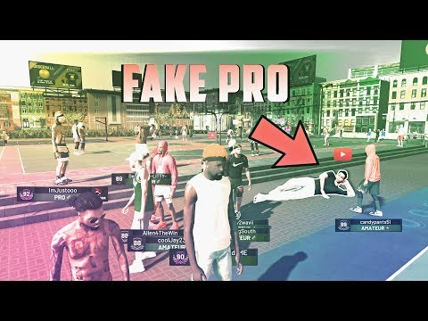 CAN A NOOB FAKE IT AS A PRO NBA 2K19 PLAYER??!