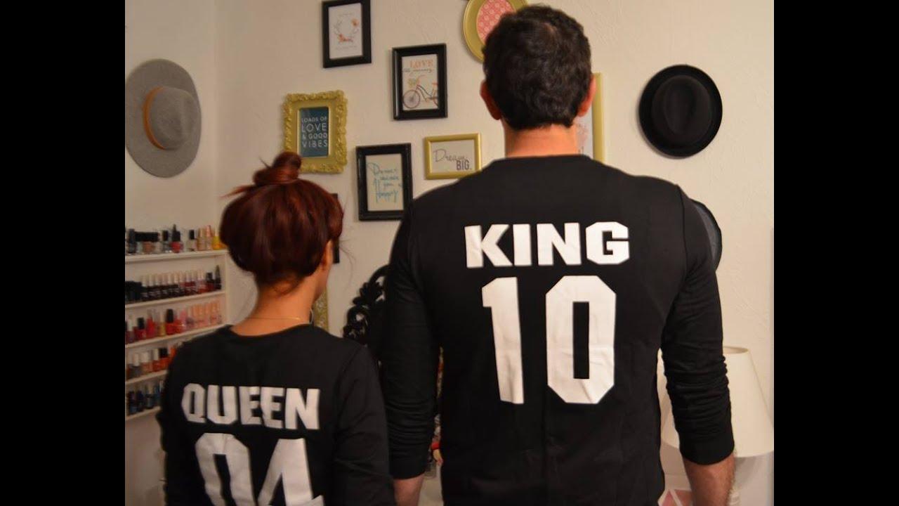 foto de Comprinhas da China Aliexpress King e Queen Camisetas