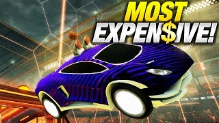BUILDING THE MOST EXPENSIVE CAR IN ROCKET LEAGUE!!