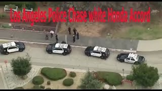 Los Angeles Police Chase white Honda Accord
