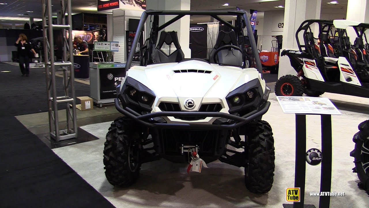 Side By Side Atv >> 2015 Can-am Commander 800 XT - Exterior and Interior Walkaround - 2014 Toronto ATV Show - YouTube