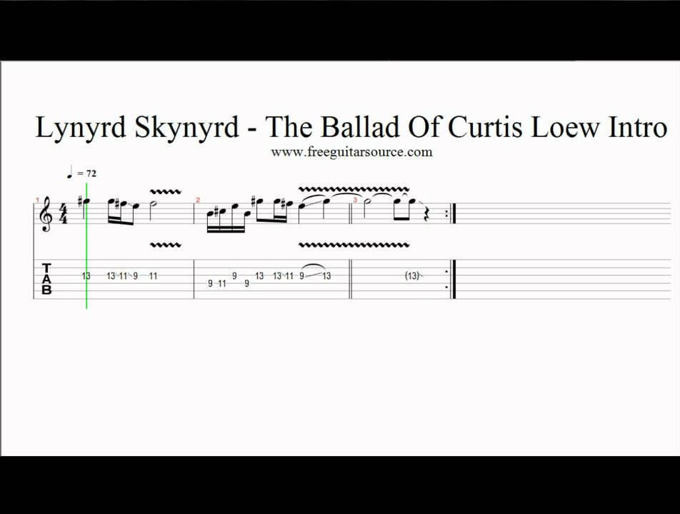 Lynyrd Skynyrd The Ballad Of Curtis Lowe Intro Guitar Lesson Youtube