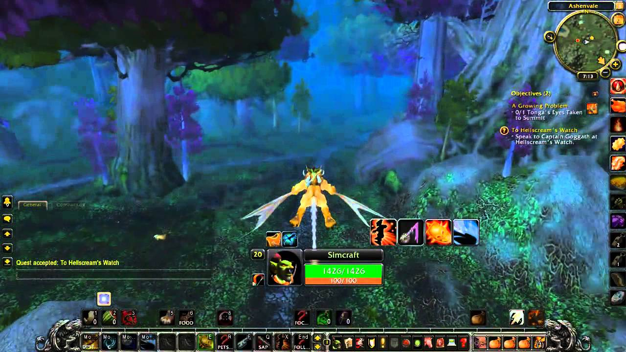 To Hellscream's Watch - World of Warcraft Quest - YouTube