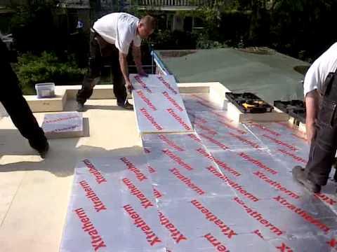 Verwonderend isolatie dak wordt gelegd - YouTube ZO-73