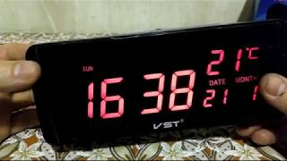 Электронные часы VST-763W обзор.