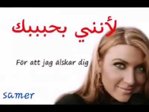 اغنية سويدية مترجمة/ Svensk låt(sång) med svenska och arabiska text..Sarah Dawn finer