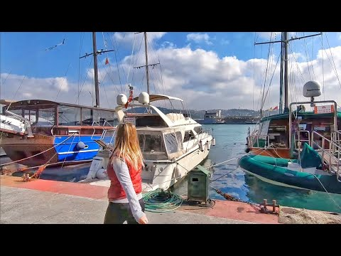 Walking along the Bosphorus in Istanbul | Istanbul Walking Tour 2019