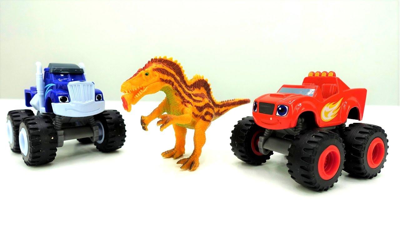 Вспыш и чудо-машинки - Игры для мальчиков с динозаврами ...
