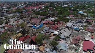 Video Indonesia tsunami: drone footage shows trail of destruction in Palu download MP3, 3GP, MP4, WEBM, AVI, FLV November 2018