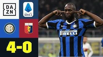 Romelu Lukaku & Co. zaubern und bleiben auf Platz 1: Inter Mailand - CFC Genua 4:0 | Serie A | DAZN