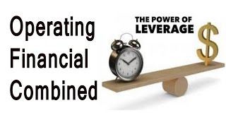 Operating Leverage Financial Leverage Combined Leverage