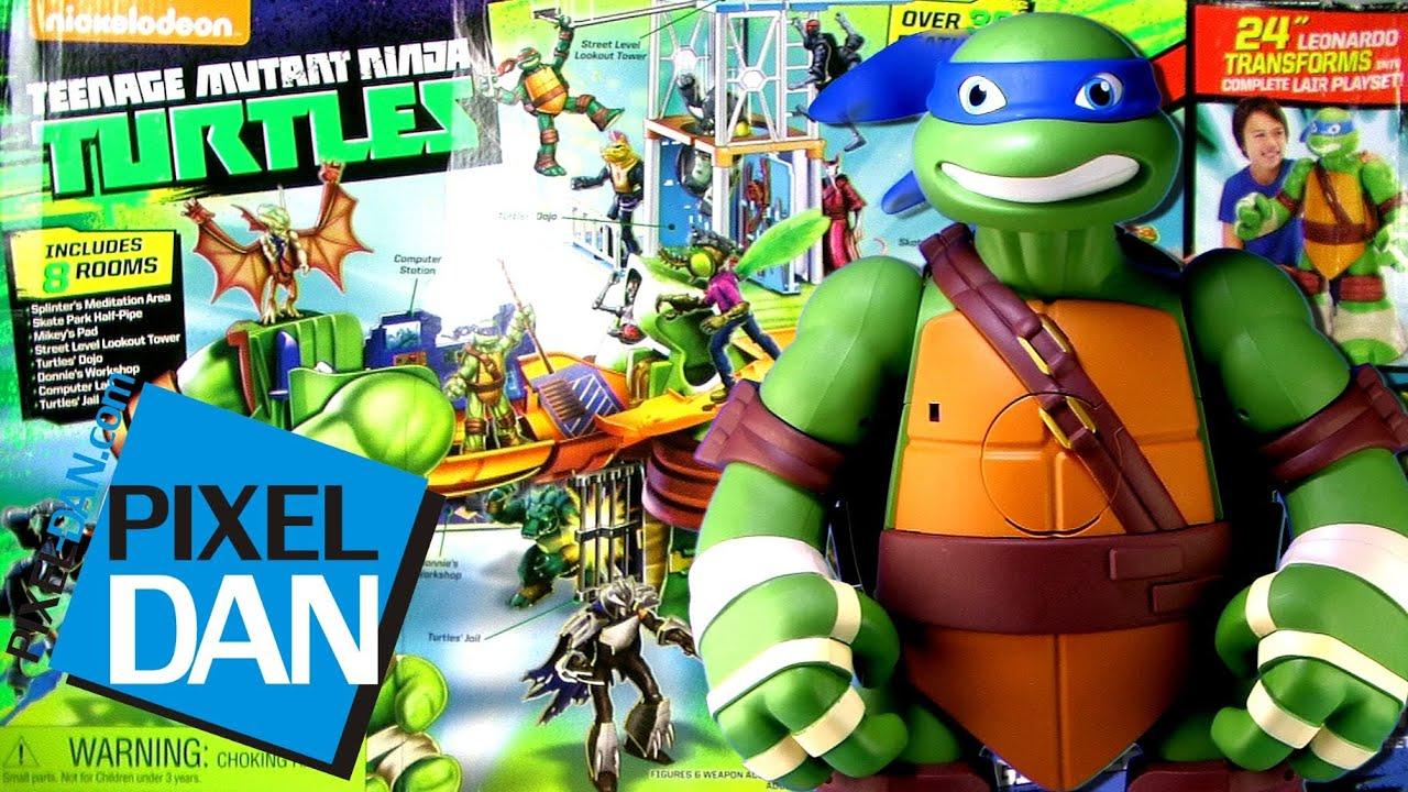 Teenage Mutant Ninja Turtles Giant Leonardo Playset Video Review Youtube