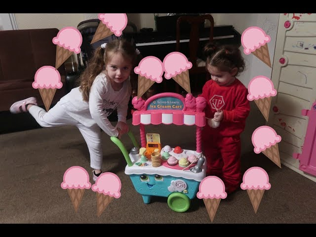 Elizabeth & Eva Pretend Play with Ice Cream Cart | ??? ???? ???????