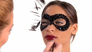 Halloween Makeup - Masquerade Mask Tutorial - by Julianne Kaye Thumbnail