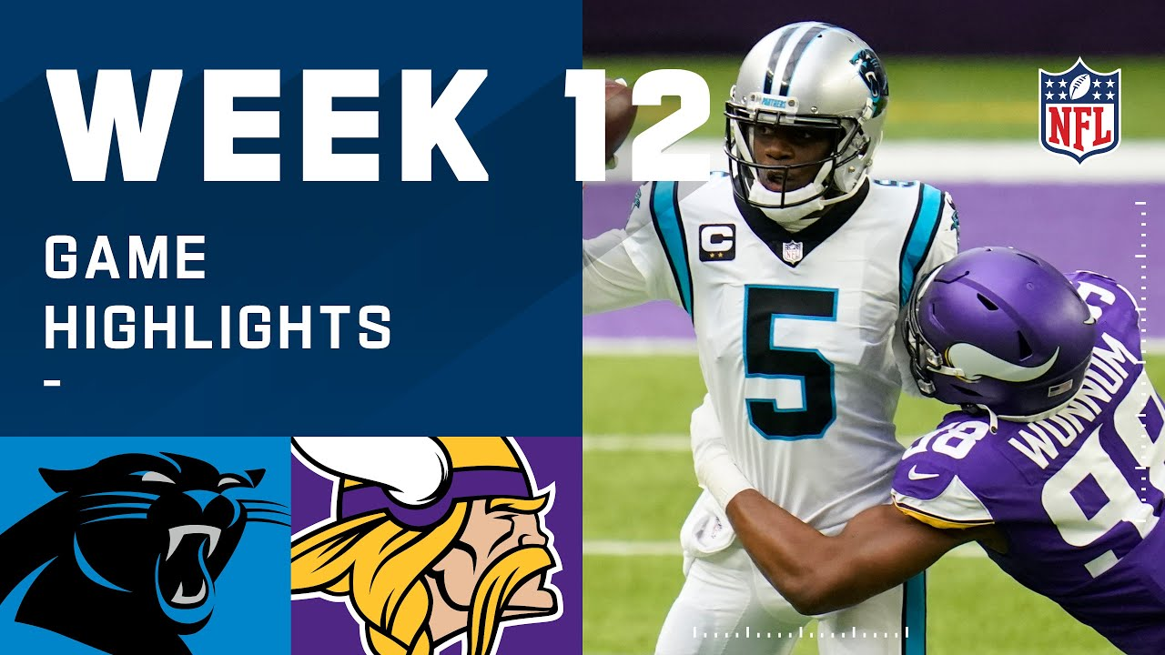 Panthers vs. Vikings Week 12 Highlights | NFL 2020