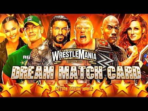 Download WWE WRESTLEMANIA 39 DREAM MATCH CARD   MY DREAM CARD   ACTION DREAM MANIA