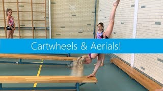 Cartwheels & Aerials on steep benches!