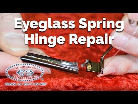 How to Repair Broken Eyeglass Springe Hinges | All American Eyeglass Repair