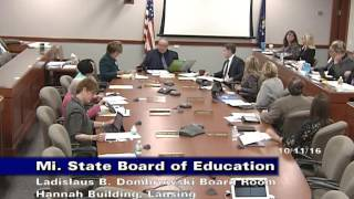 michigan-state-board-of-education-meeting-for-october-11-2016-morning-session