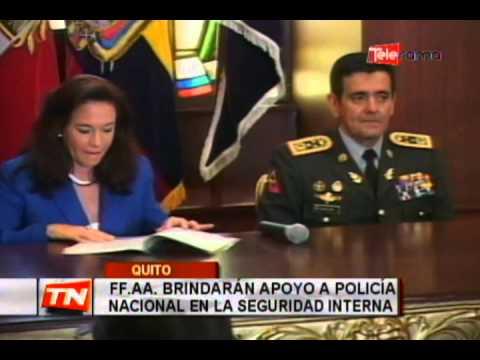 FF.AA. brindará apoyo a policía nacional en la seguridad interna