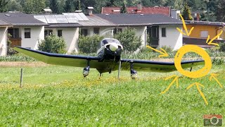 Start eines Kleinflugzeuges in Lienz nach Notlandung